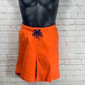 NWOT MR. Swim Orange Cotton Chino Shorts Mens